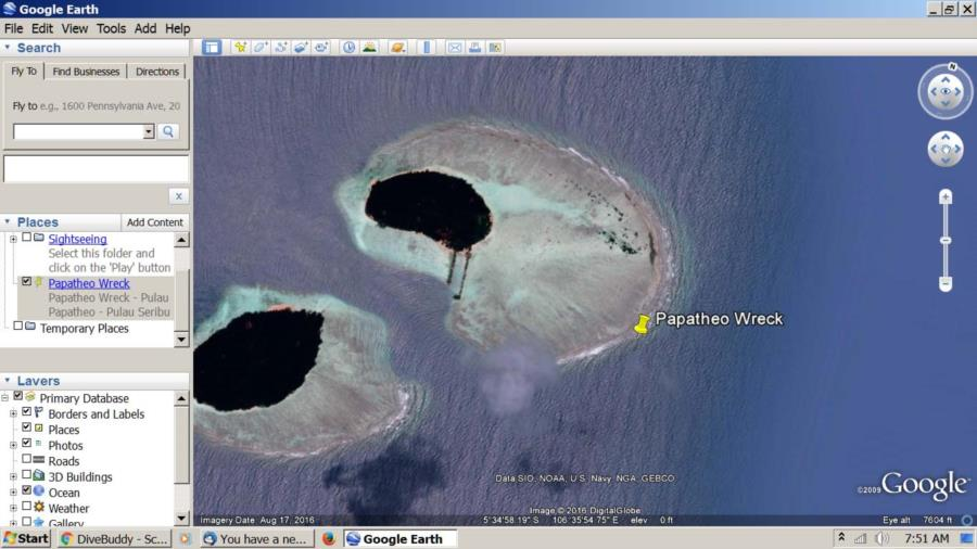 Papatheo Wreck Reef Shot
