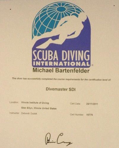 SDI Dive Master