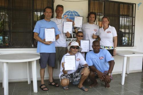 Scuba instructor training - Kansas and Costa Rica, Split between 2 worlds