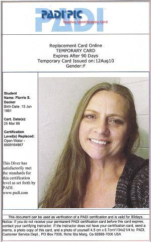 PADI replacement ID