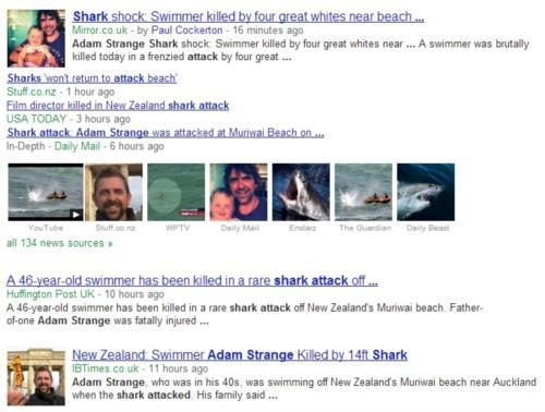 Shark Attack in Auckland New Zealand - Adam Strange