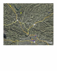 MAP of CASTAIC LAKE
