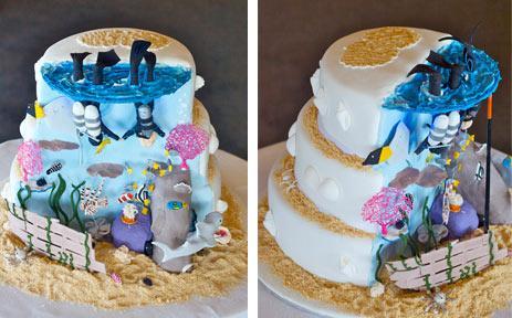 Awesome Scuba Diving Wedding Cake Ideas!
