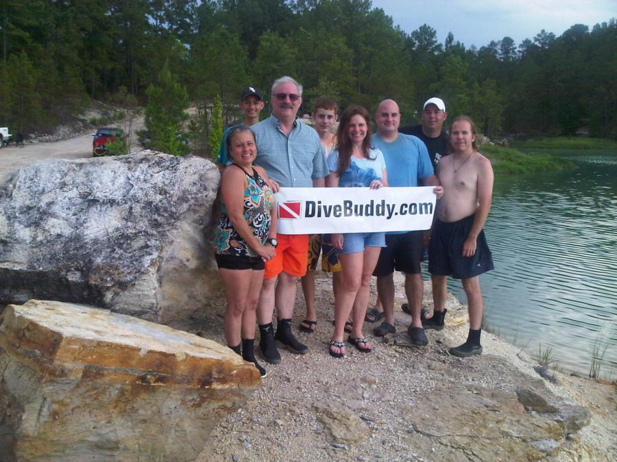Blue Lagoon - Group of DiveBuddy members that met at the Blue Lagoon in Texas