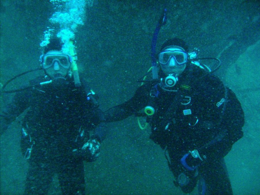 U-352 - David and I at the UBoat,