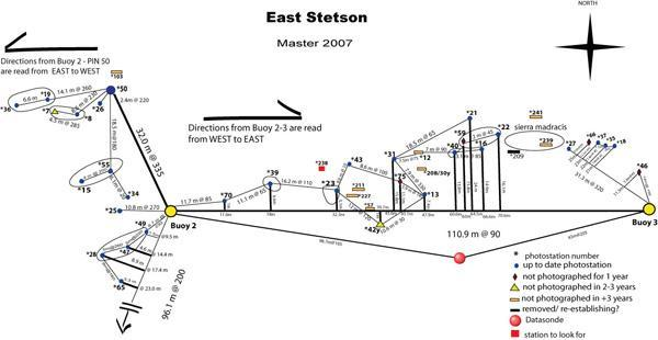 Stetson Bank (Texas Flower Gardens) - Stetson / Flower Garden Map