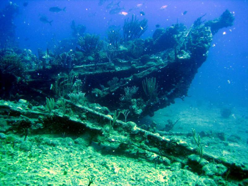 RMS Rhone wreck - HMS Rhone bow