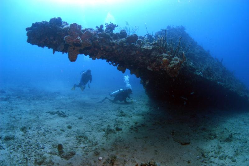 RMS Rhone wreck - The Rhone bow