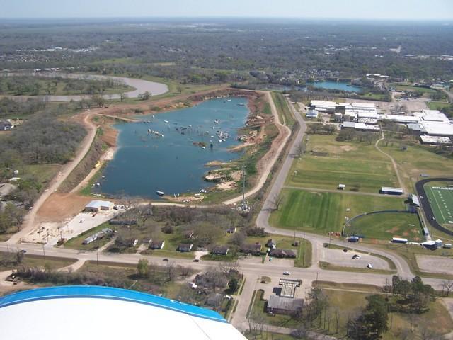 Mammoth Lake - Aerial view of Mammoth Lake, Lake Jackson, Texas