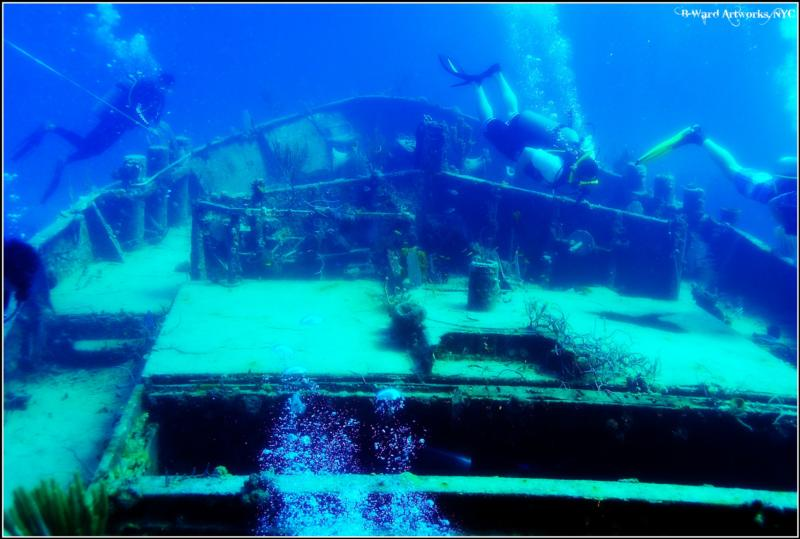 James Bond Wrecks, Thunderball - wreck dive bahamas