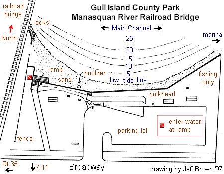 Point Pleasant Rail Road Bridge - dive site sketch doesn't show best area upstream