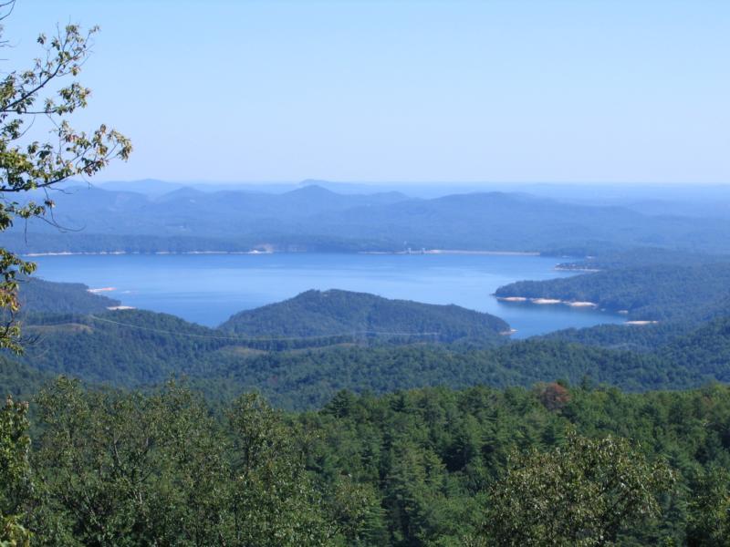 Lake Jocassee - View of lake from afar.
