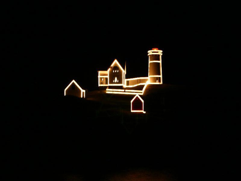 Nubble Light House, Cape Neddick - Nubble Lighthouse decorated for the Holidays