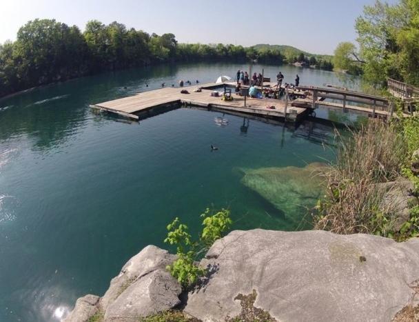 Alabama Blue Water Park Pelham Quarry Entry Docks At