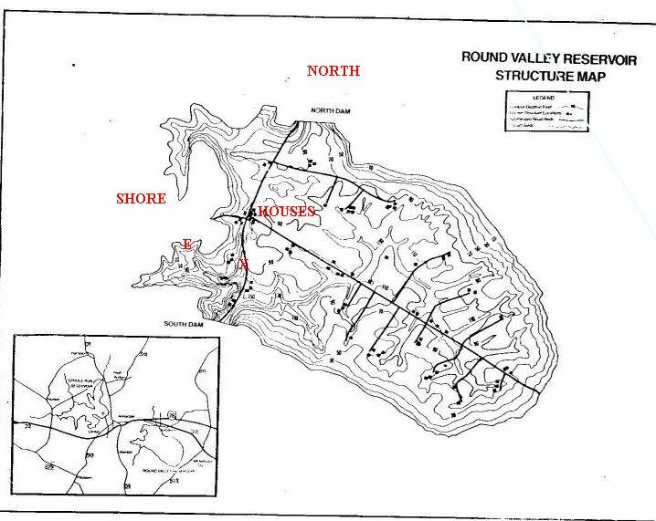 Round Valley Recreation Area - Round Valley Reservoir Map