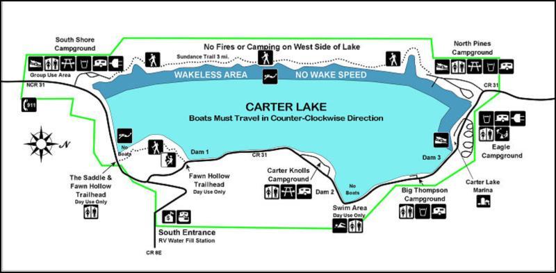Carter Lake - Carter Lake Map on