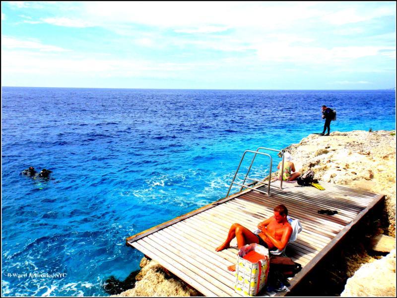 Oil Slick Leap - oil slick dive site, bonaire