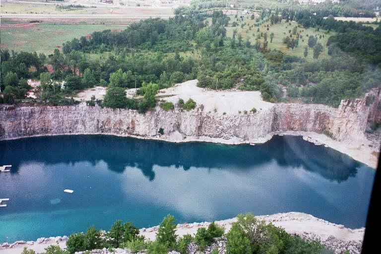 Better Diver Quarry - Aerial View of Better Diver Quarry in Alabama