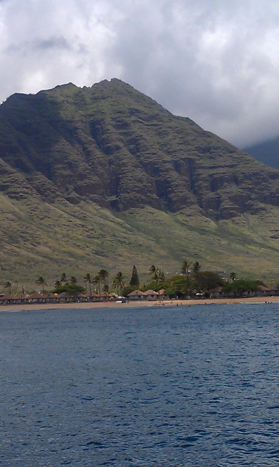 Mahi, formerly the USS Scrimmage AM297 - Waianae Mountain Range