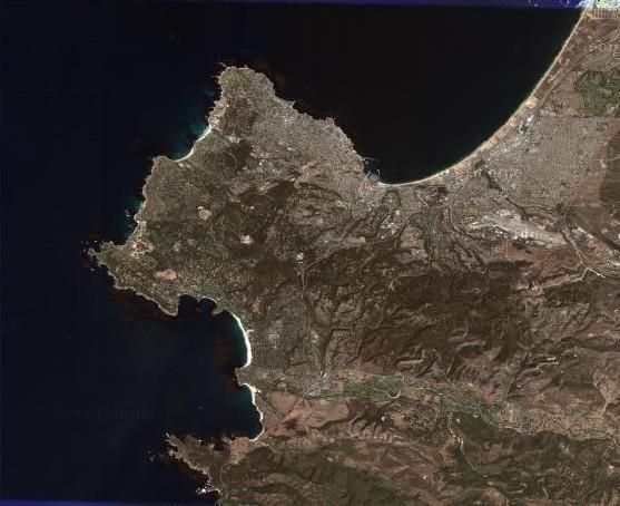 Monterey Bay Area - Monterey Bay from Orbit