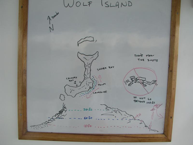 Landslide, Wolf Island - Breifing board