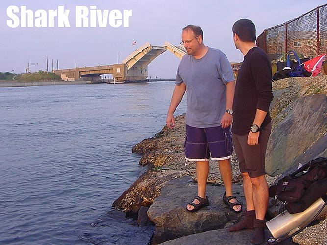 Shark River Inlet - Shark River NJ - Selecting the Entry Site