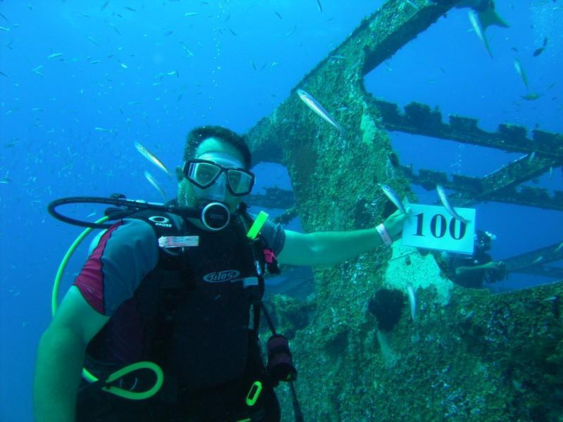 C-53 Wreck, Felipe Xicotencatl - 100th Dive !!!! Cozumel MX.