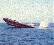 Rube Allyn Reef - Barge being sunk