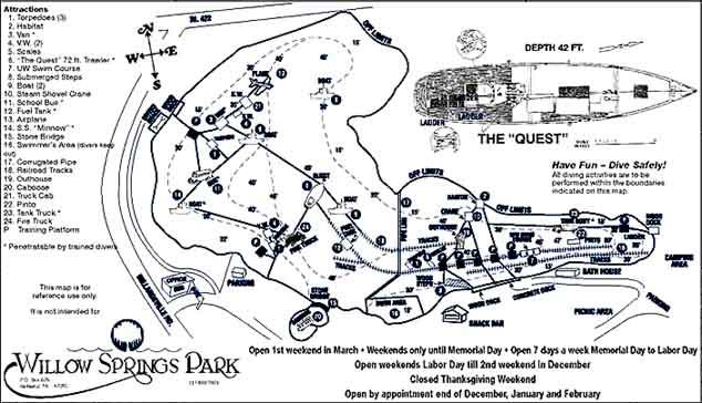 Willow Springs Park - Willow Springs Map