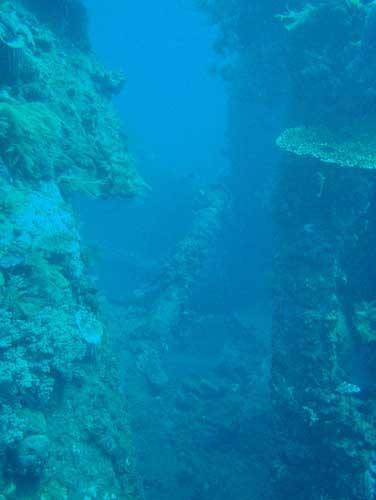 USAT Liberty - USAT Liberty Wreck @ Tulamben, Bali - Taken with Olympus 795SW