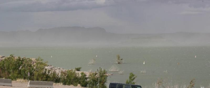 Elephant Butte State Park - wide view of the lake