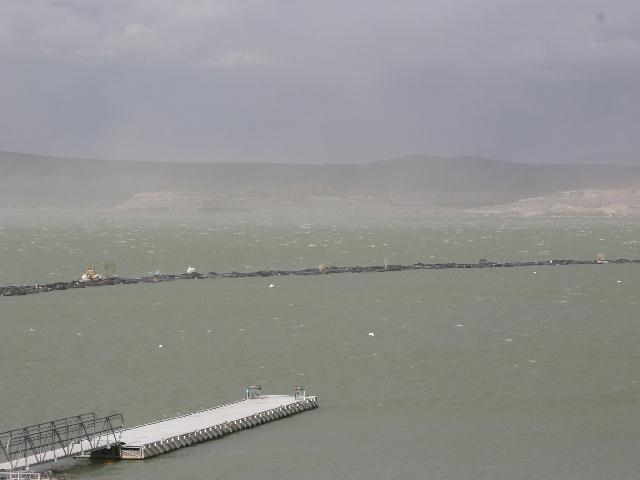 Elephant Butte State Park - lake view on land behind marina