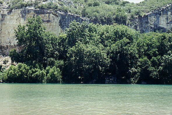 Chalk Bluff on the Nueces River - Chalk Bluff View