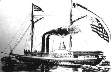 Anthony Wayne - Drawing of Anthony Wayne ship, Lake Erie