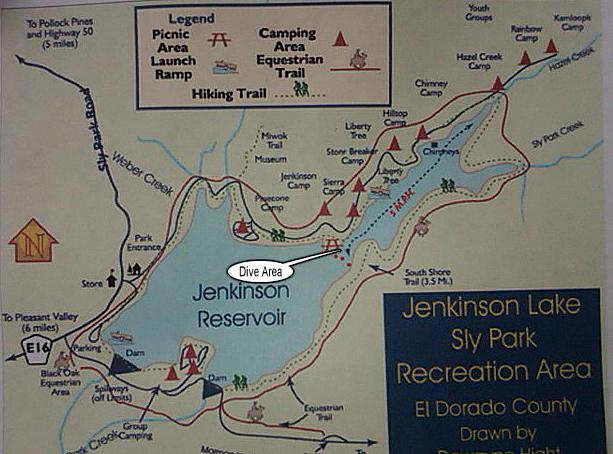 Jenkinson Lake / Sly Park - El Dorado County - Map of Jenkinson Lake