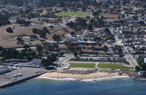 San Carlos beach, Monterey, CA, USA - Breakwater (San Carlos Beach)