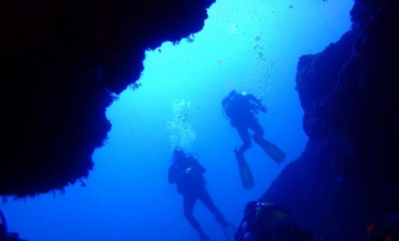 Blue Hole - Exiting the Blue Hole