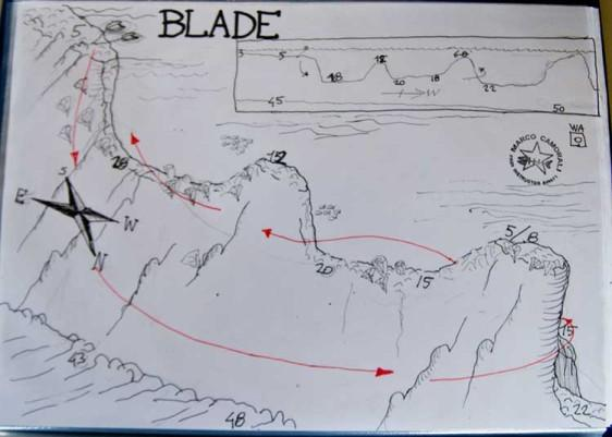 Blade - Dive site map