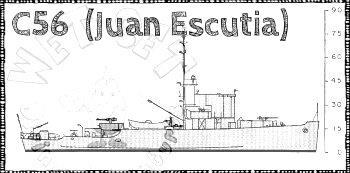 Wreck c-56 Juan Escutia - C-56 Admirable Class