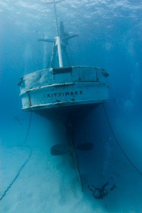 Kittiwake - Stern of Kittiwake Wreck