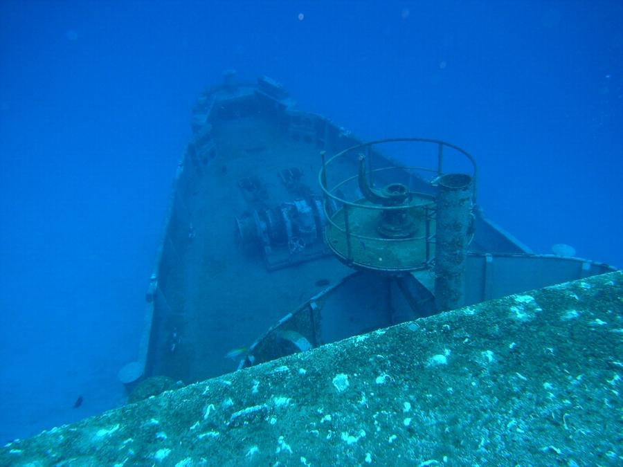 Kittiwake - The bow from the upper deck