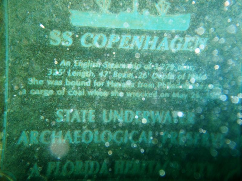 Copenhagen aka Cumberland Barge - Plaque (south end of wreck)