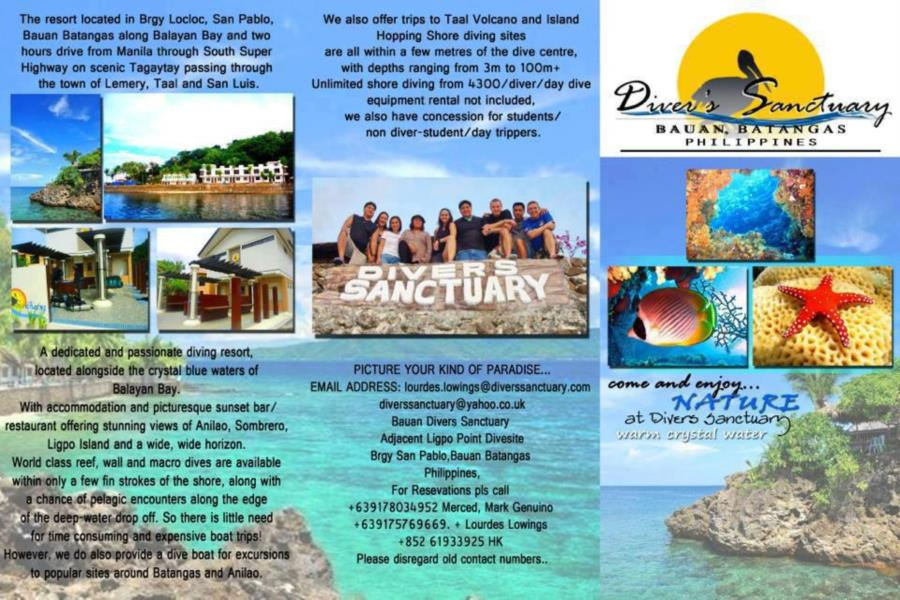 Bauan Divers Sanctuary - Resort Flier