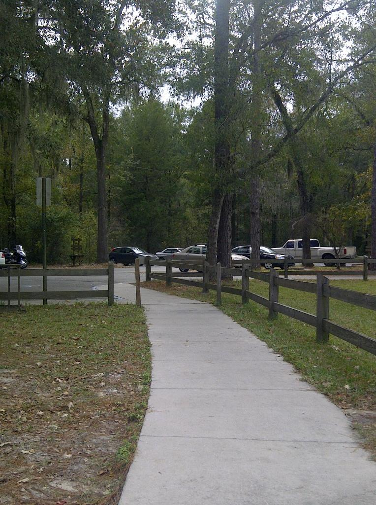 Troy Spring aka Troy Springs State Park - Troy springs parking