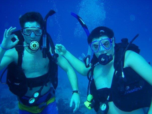 Cozumel - Sonnenburg & I (my first ocean dive!)