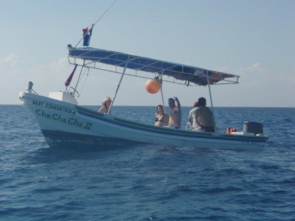 Cozumel - Glen was sea sick on the snorklers boat :(