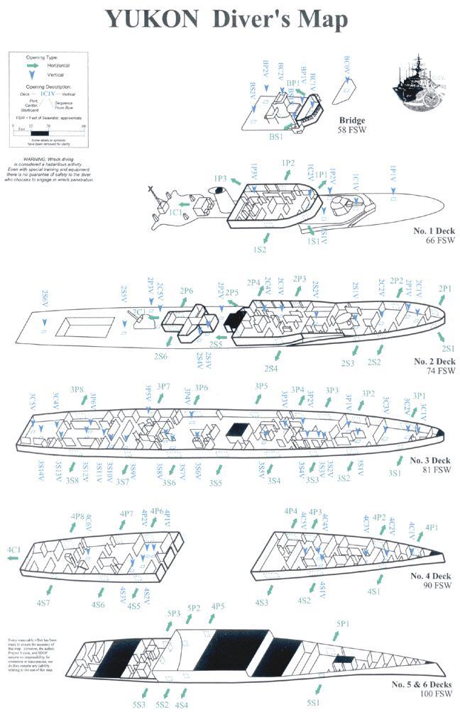 Yukon - Yukon Wreck Map - Ship Levels
