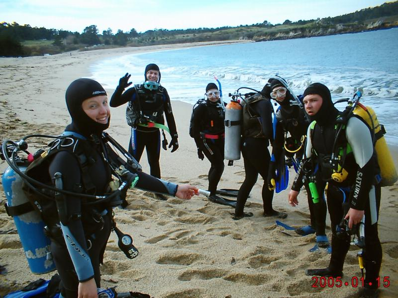 Monastery Beach North - Getting ready to dive the north