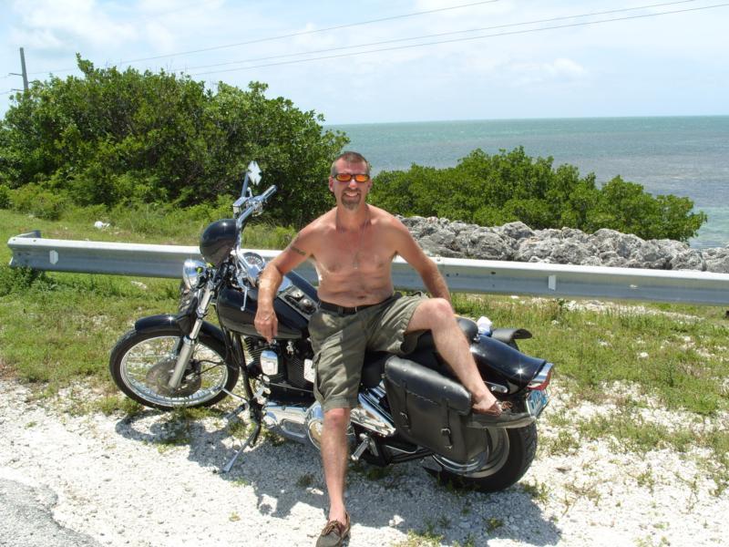 On my Harley 7Mile Bridge (The Keys)