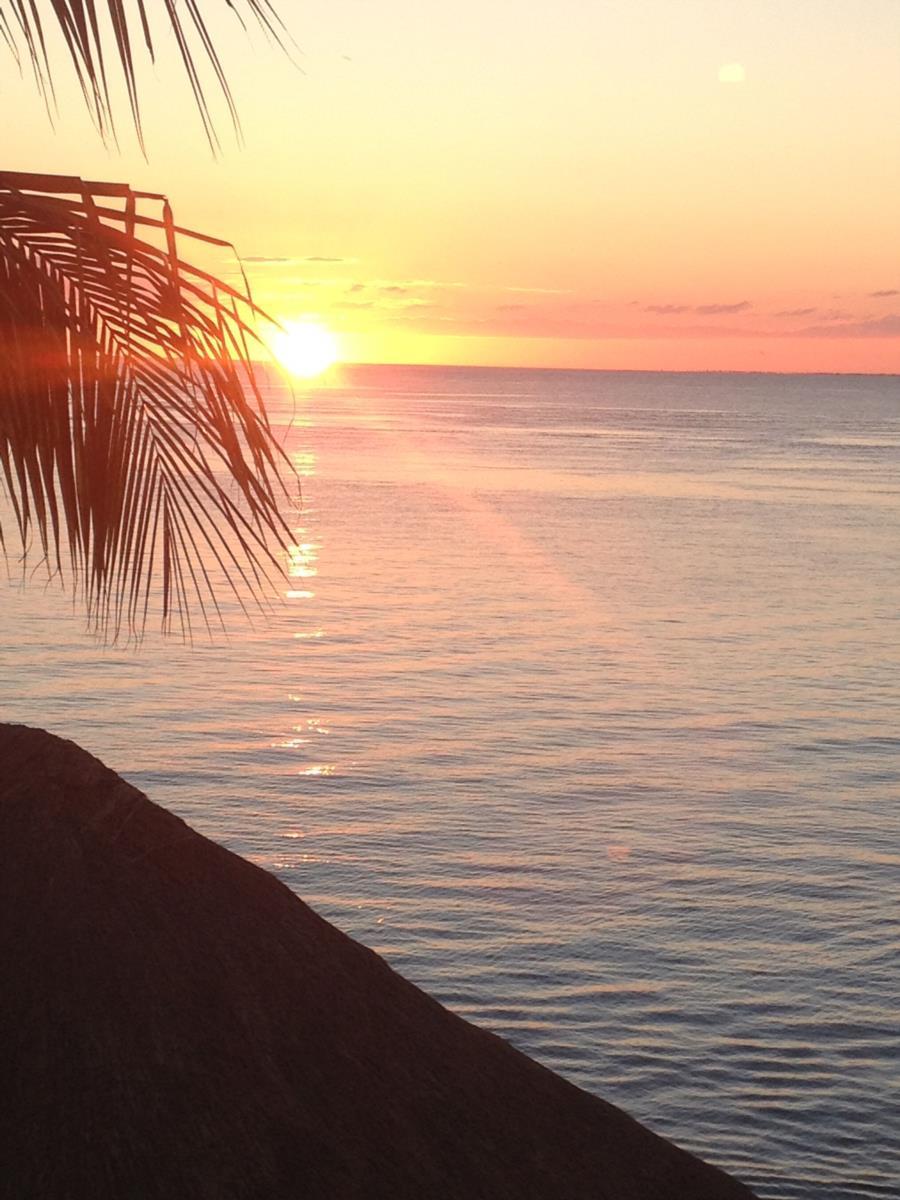 Sunset at Villa Aldora, Cozumel, Mx
